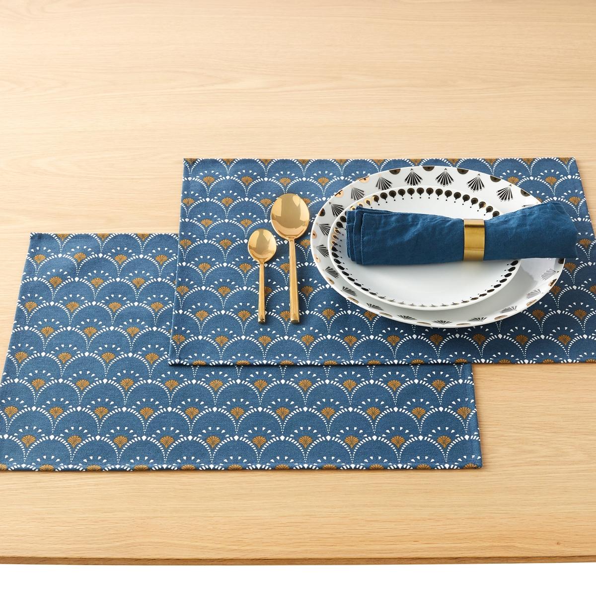 Комплект из подставок под La Redoute Приборы MINA единый размер синий купальник benefits mina 1508 2015