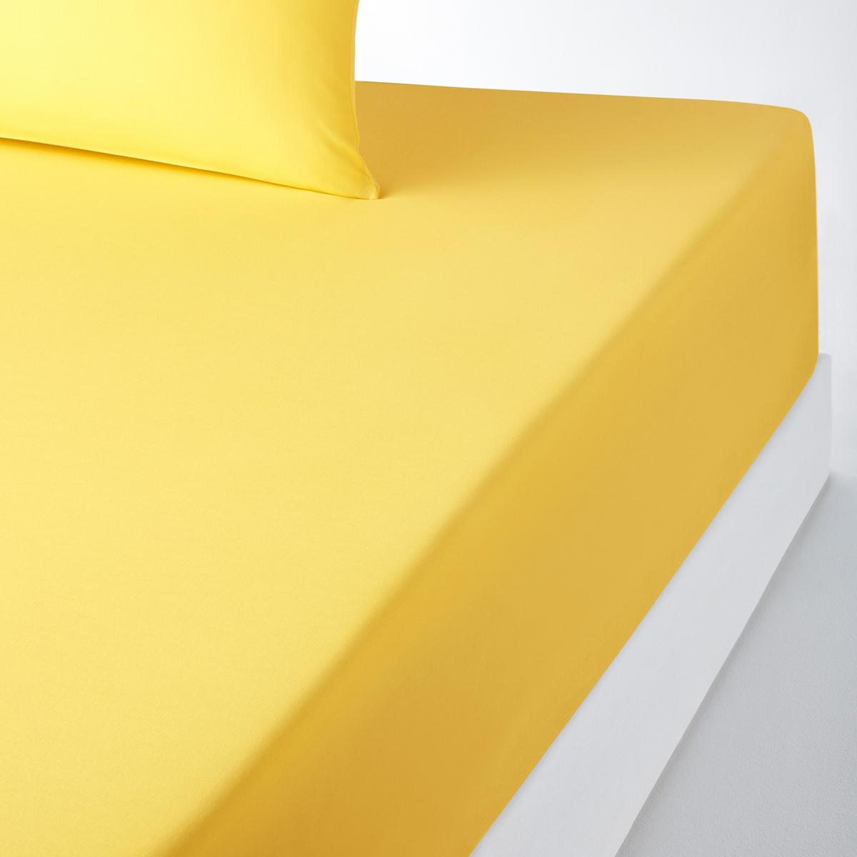Натяжная простыня, 100% хлопокСтильная гамма цветов позволяет создаваять яркие комплекты SCENARIO.    57 нитей/см? : чем больше нитей/см?, тем выше качество ткани.Характеристики хлопчатобумажной натяжной простыни для толстого матраса:- Натяжная простыня из 100% хлопка плотного плетения (57 нитей/см? : чем больше количество нитей/см?, тем выше качество ткани), очень мягкая и удобная. - Специально разработана для толстых матрасов до 30 см (клапан 32 см).- Прекрасно сохраняет цвет после стирок (60°).Знак Oeko-Tex® гарантирует, что товары протестированы, сертифицированы и не содержат вредных для здоровья веществ. Натяжная простыня  :90 x 190 см : 1-спальный.140 x 190 см : 2-спальный.140 x 200 см : 2-спальный.160 x 200 см : 2-спальный.2 p : 2-спальный.Найдите другие предметы постельного белья SC?NARIO на нашем сайте<br><br>Цвет: желтый лимонный