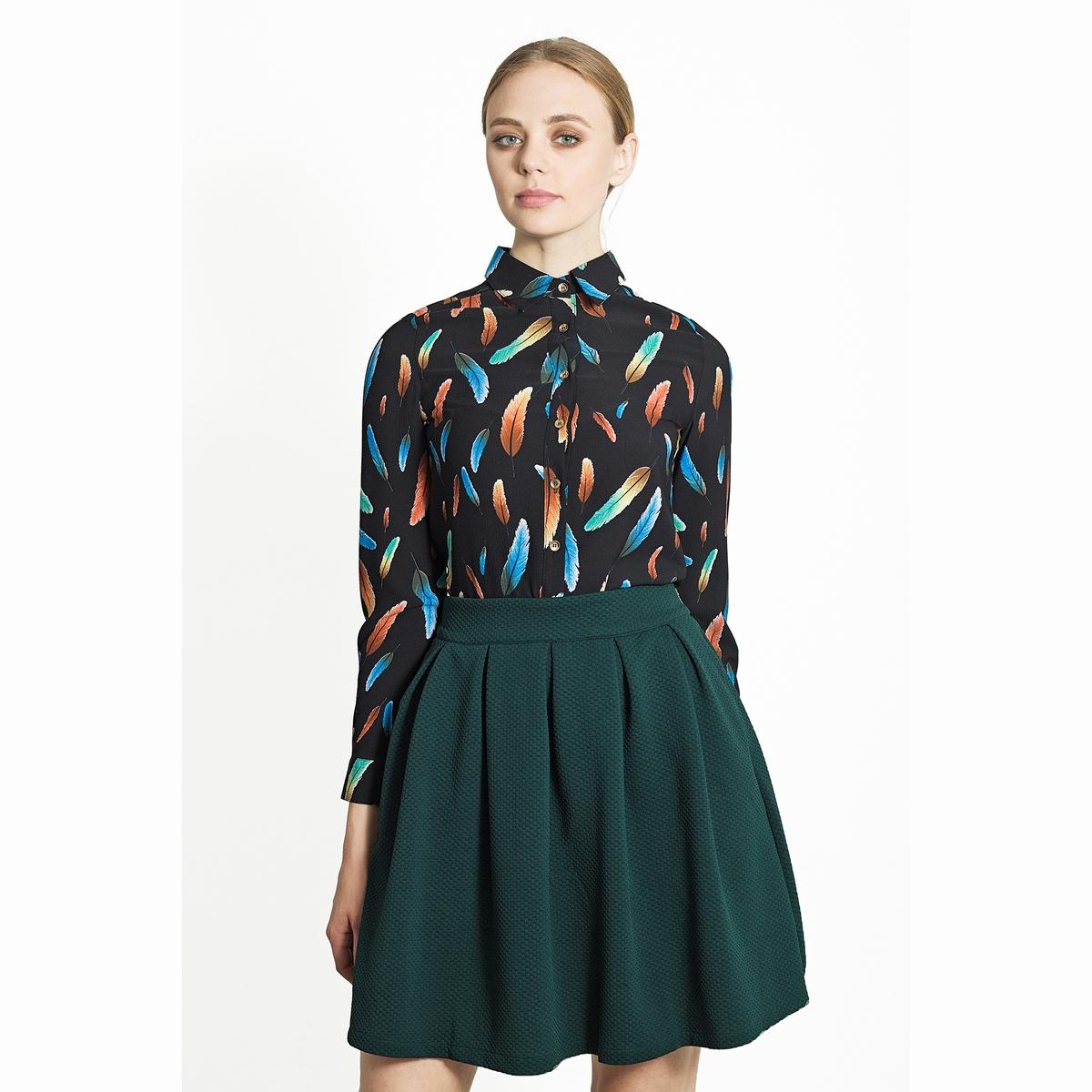 Юбка расклешенная с высокой посадкойРасклешенная юбка. Модная короткая юбка с высокой посадкой из красивого материала со складками. Состав и описаниеМатериалы: 100% полиэстер.Марка: Migle+MeУходСледуйте рекомендациям по уходу, указанным на этикетке изделия.<br><br>Цвет: зеленый<br>Размер: L.M