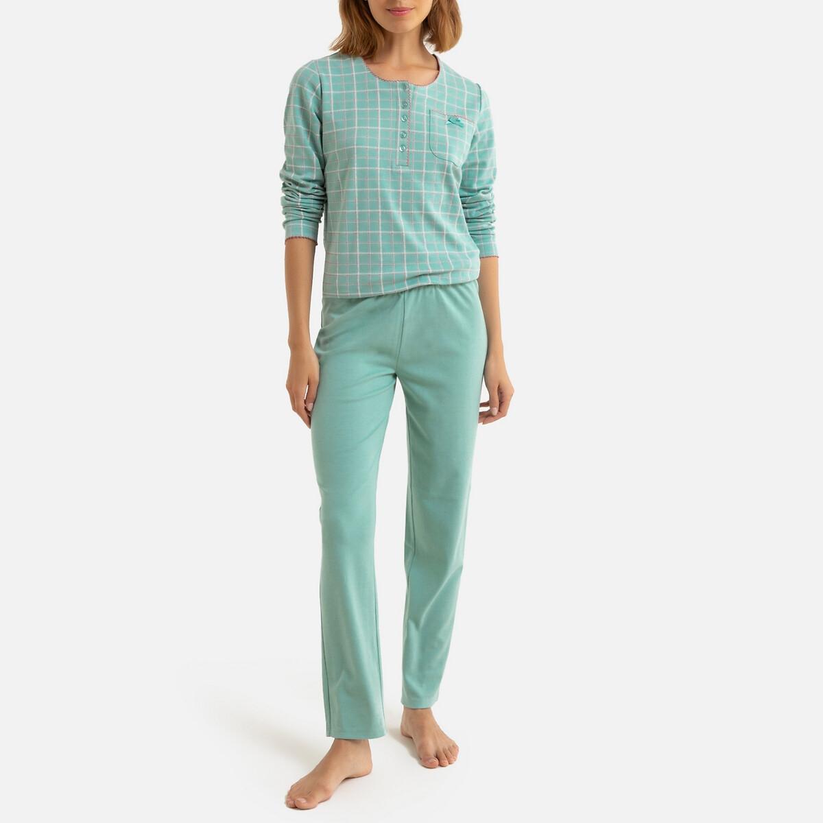 Пижама LaRedoute La Redoute 50/52 (FR) - 56/58 (RUS) зеленый пижама la redoute с шортами 54 56 fr 60 62 rus синий