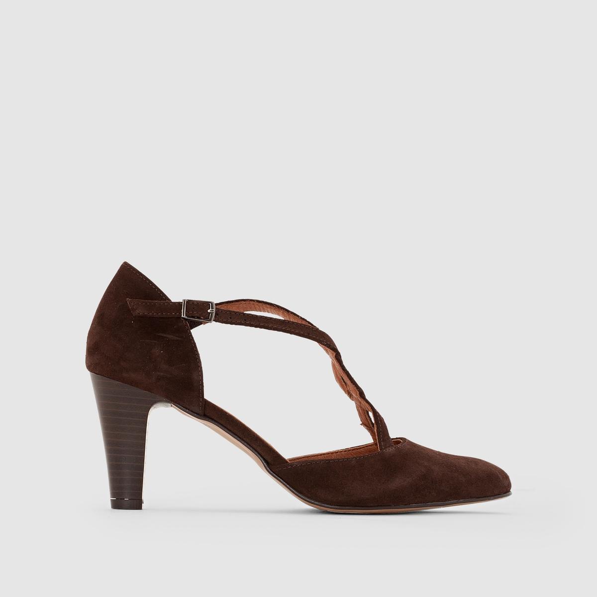 Туфли из яловичного спилка ботинки из спилка