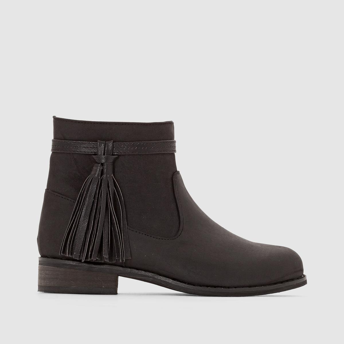 Ботинки с помпонами ботинки блестящие с помпонами 19 24