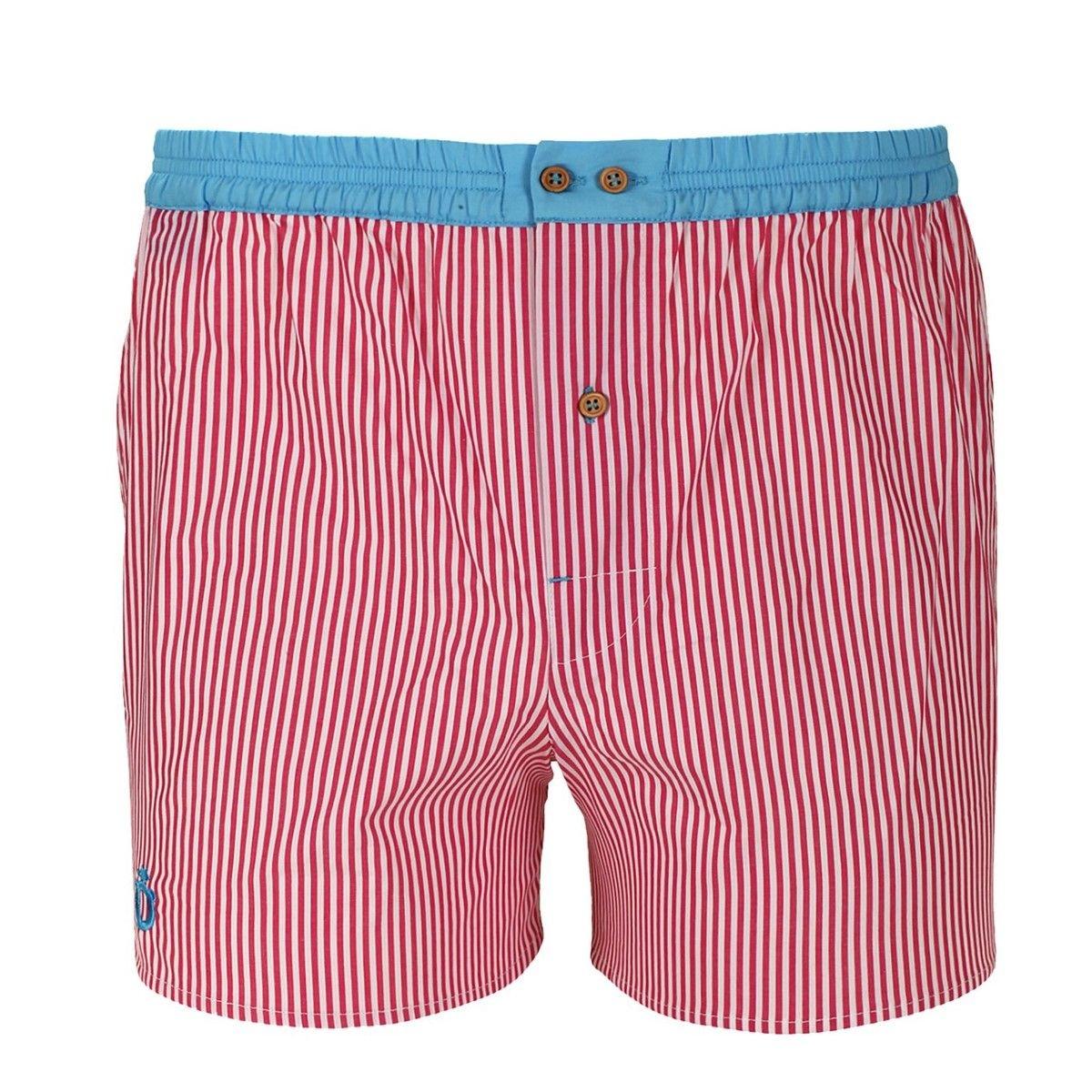 Caleçon à rayures roses avec ceinture bleue