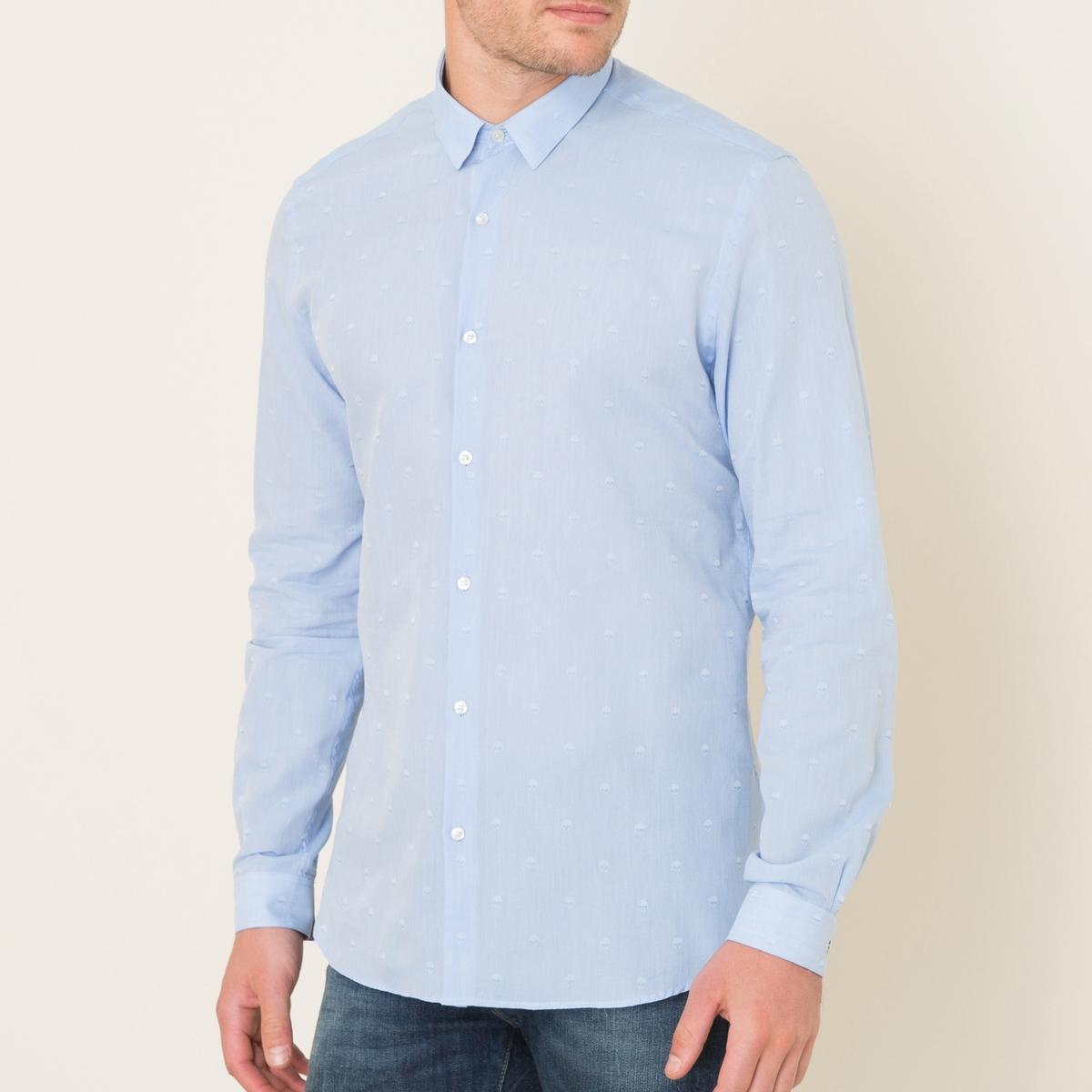 Рубашка с рисунком черепСостав и описание Материал : 100% хлопокМарка : THE KOOPLES<br><br>Цвет: синий