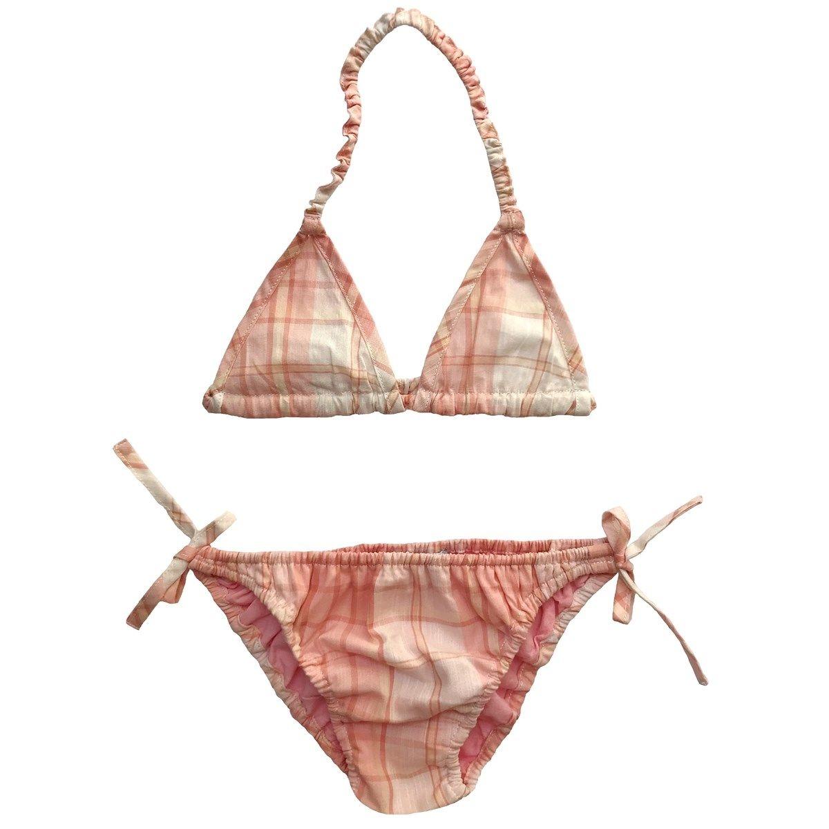 Bikini deux pièces en cotonà carreaux MADELEINE