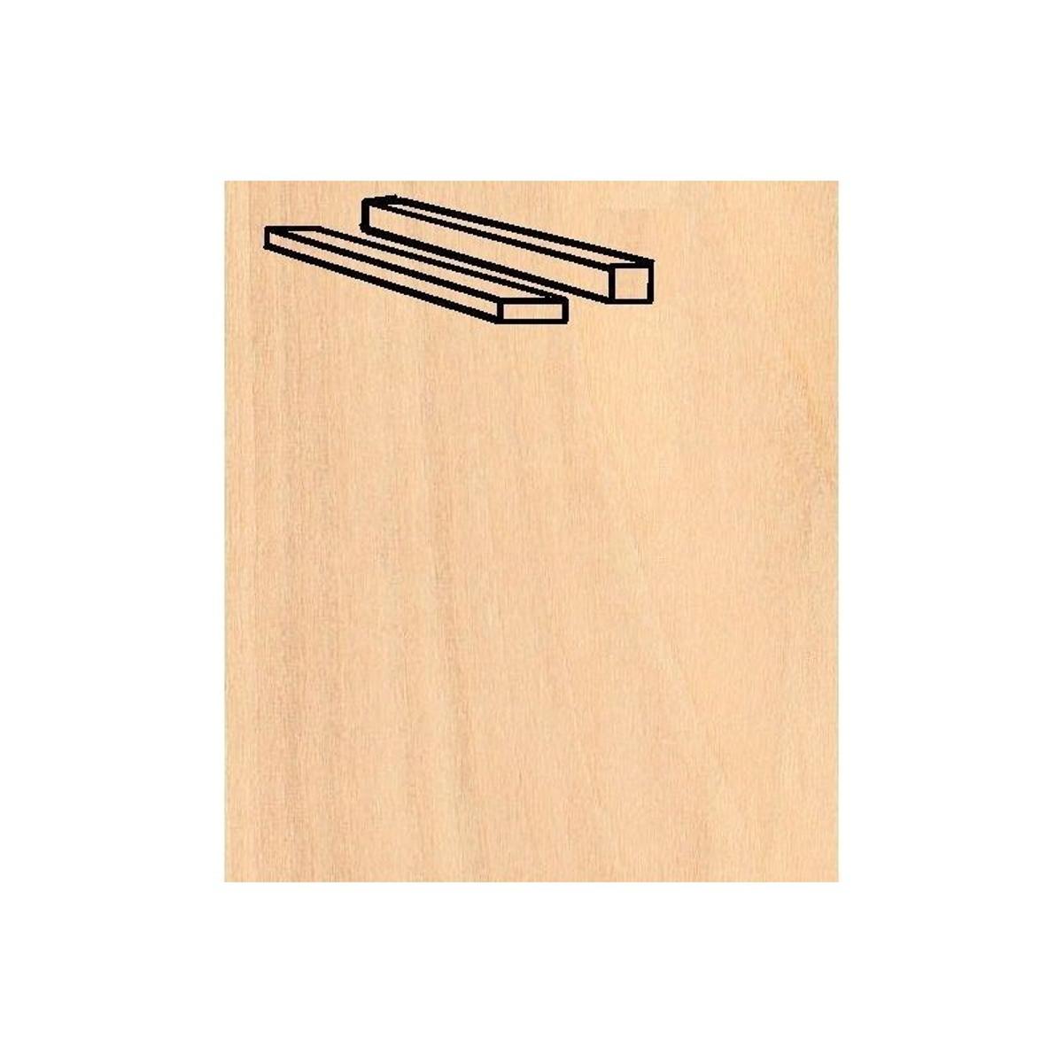 Baguettes de placage en bois x 25 : Bouleau 914 x 5 x 5 mm