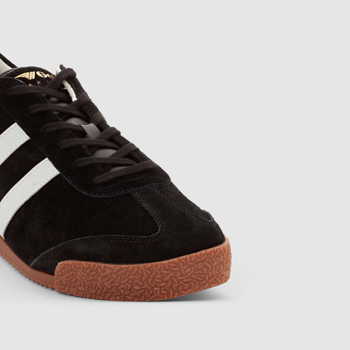 Кеды Harrier SuedeКеды низкие из кожи на шнуровке, модель HARRIER SUEDE от GOLA.Верх : яловичная кожаПодкладка : текстильСтелька : текстильПодошва : каучук.Застежка : шнуровкаПопулярная во всем мире марка Gola отметила свой 100-й юбилей и продолжает радовать нас модной, яркой, стильной и комфортной городской обувью ! Дизайн прямиком из 1968 г., кожаный верх и комфорт повседневной носки, - модель Harrier добавит нотку винтажности Вашему модному образу.<br><br>Цвет: черный/серый<br>Размер: 44.45