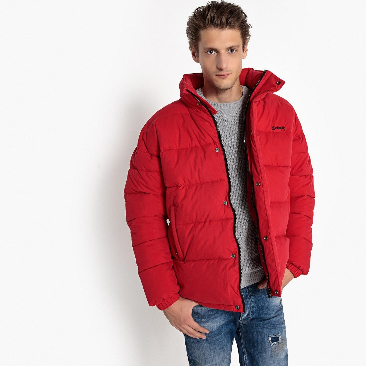 Куртка стеганая короткая NEBRASKA с воротником-стойкой на молнии