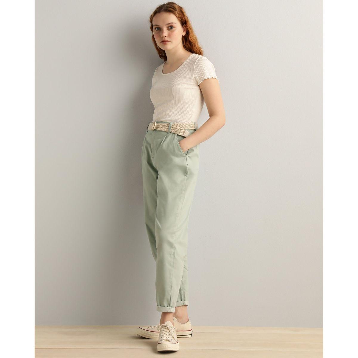 Pantalon slouchy avec ceinture