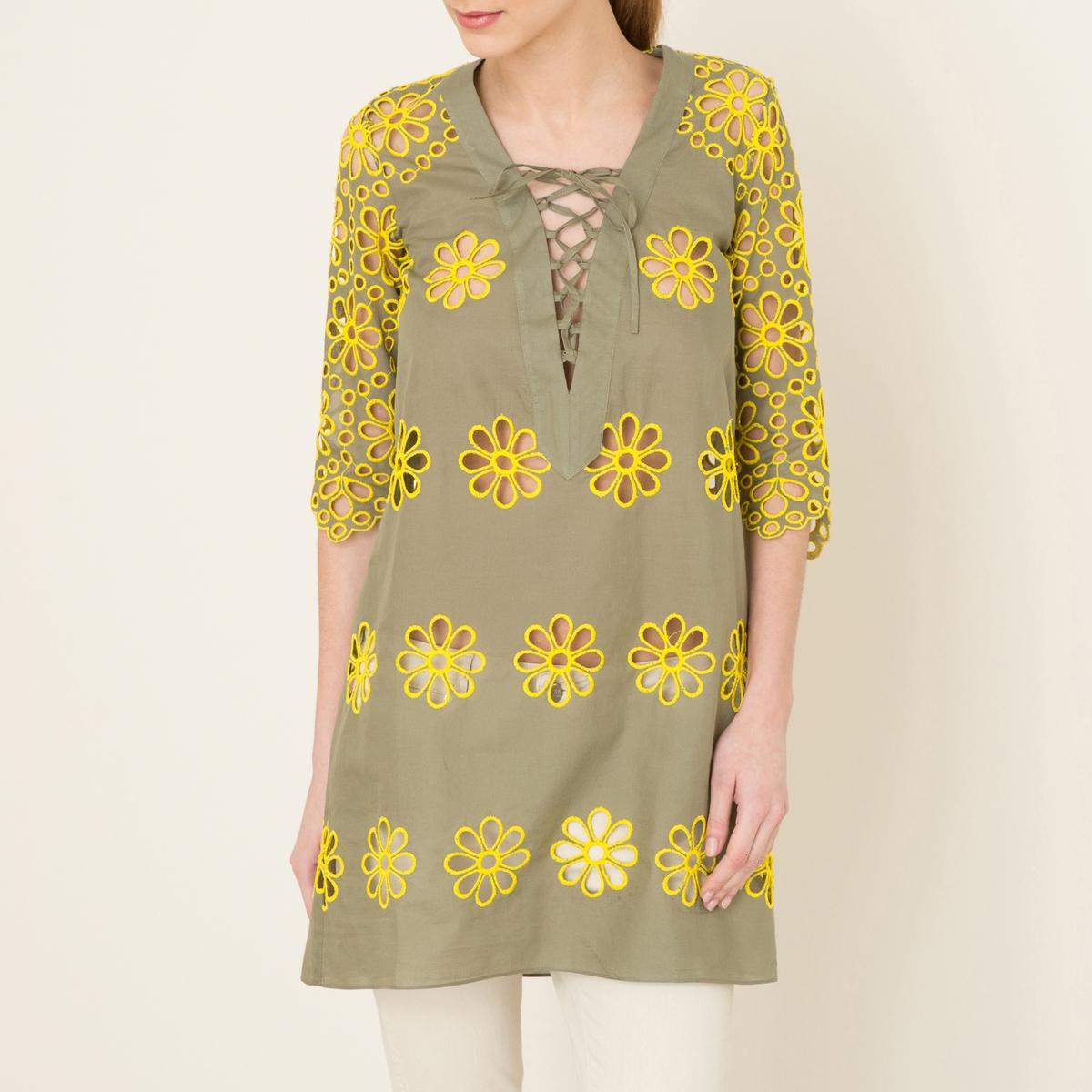 Платье EDGE PLUSСостав и описание Материал : 100% хлопокДлина : 88 см. для размера 36Марка : VALERIE KHALFON<br><br>Цвет: хаки