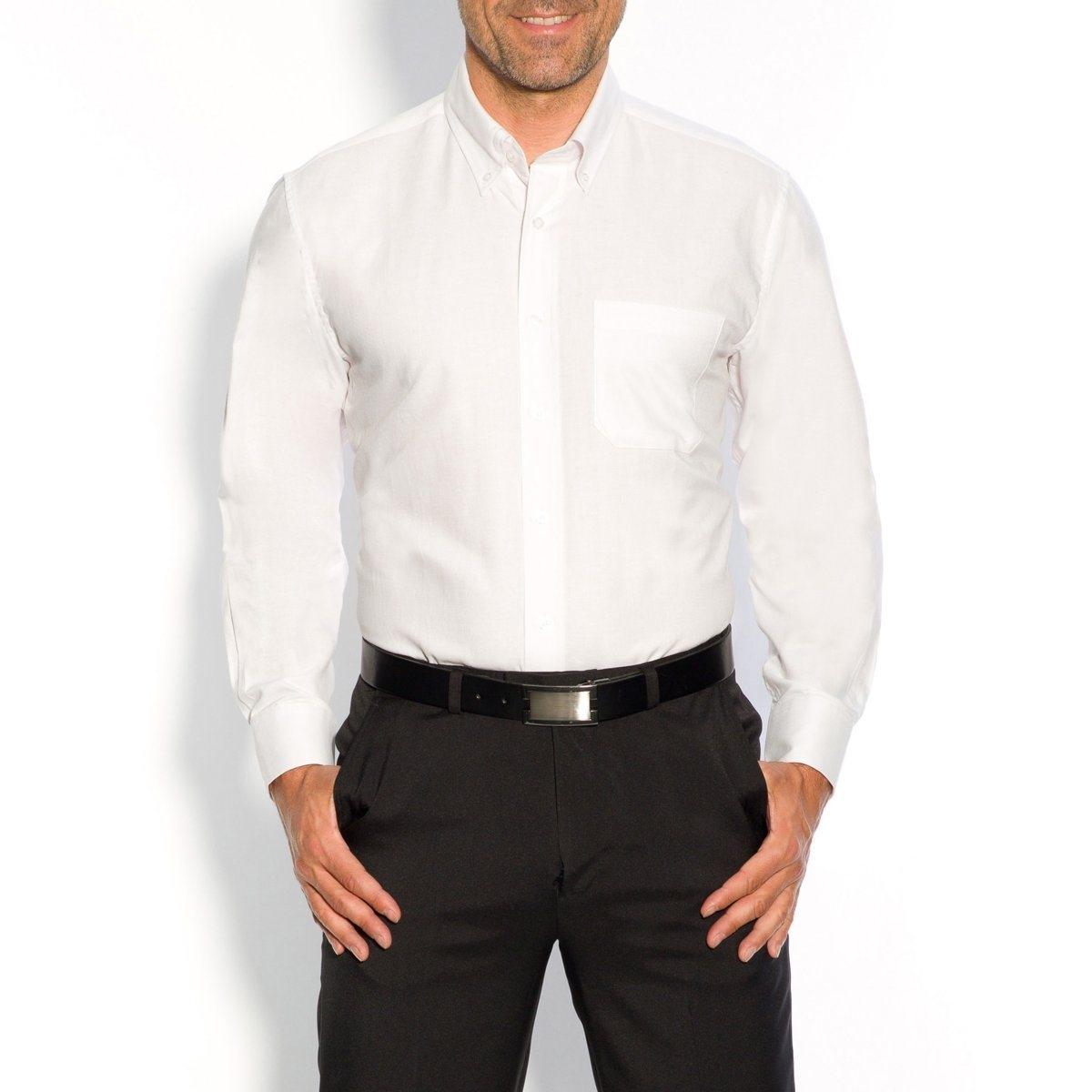 Хлопковая рубашкаДетали •  Длинные рукава •  Прямой покрой •  Воротник классический •  Воротник на пуговицахСостав и уход •  70% хлопка, 30% полиэстера •  Машинная стирка при 40° •  Сухая чистка и отбеливание запрещены •  Барабанная сушка при умеренном режиме •  Гладить при средней температуреТовар из коллекции больших размеров<br><br>Цвет: белый,небесно-голубой,светло-серый,темно-синий<br>Размер: 47/48.53/54.51/52.53/54.41/42.49/50.57/58.43/44.45/46.43/44.57/58.49/50.53/54.41/42.43/44.45/46.51/52.55/56