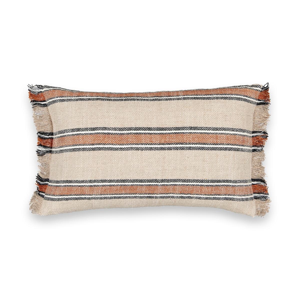 Чехол La Redoute На подушку-валик Anusha 50 x 30 см бежевый наволочка la redoute из хлопка aliki 50 x 50 см бежевый