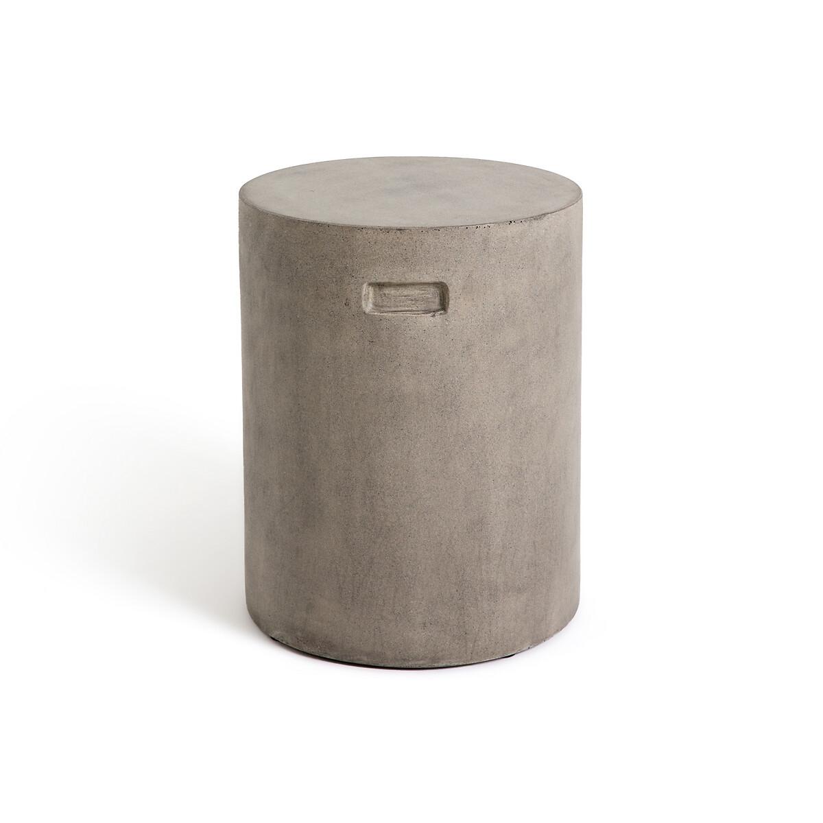 Столик LaRedoute Диванный круглый для открытого воздуха Raskin единый размер серый