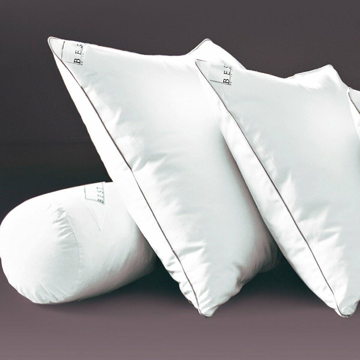 Фото - Подушка LaRedoute Упругая из латекса с обработкой proneem 40 x 60 см белый подушка laredoute жесткая из латекса с пропиткой proneem 50 x 70 см белый