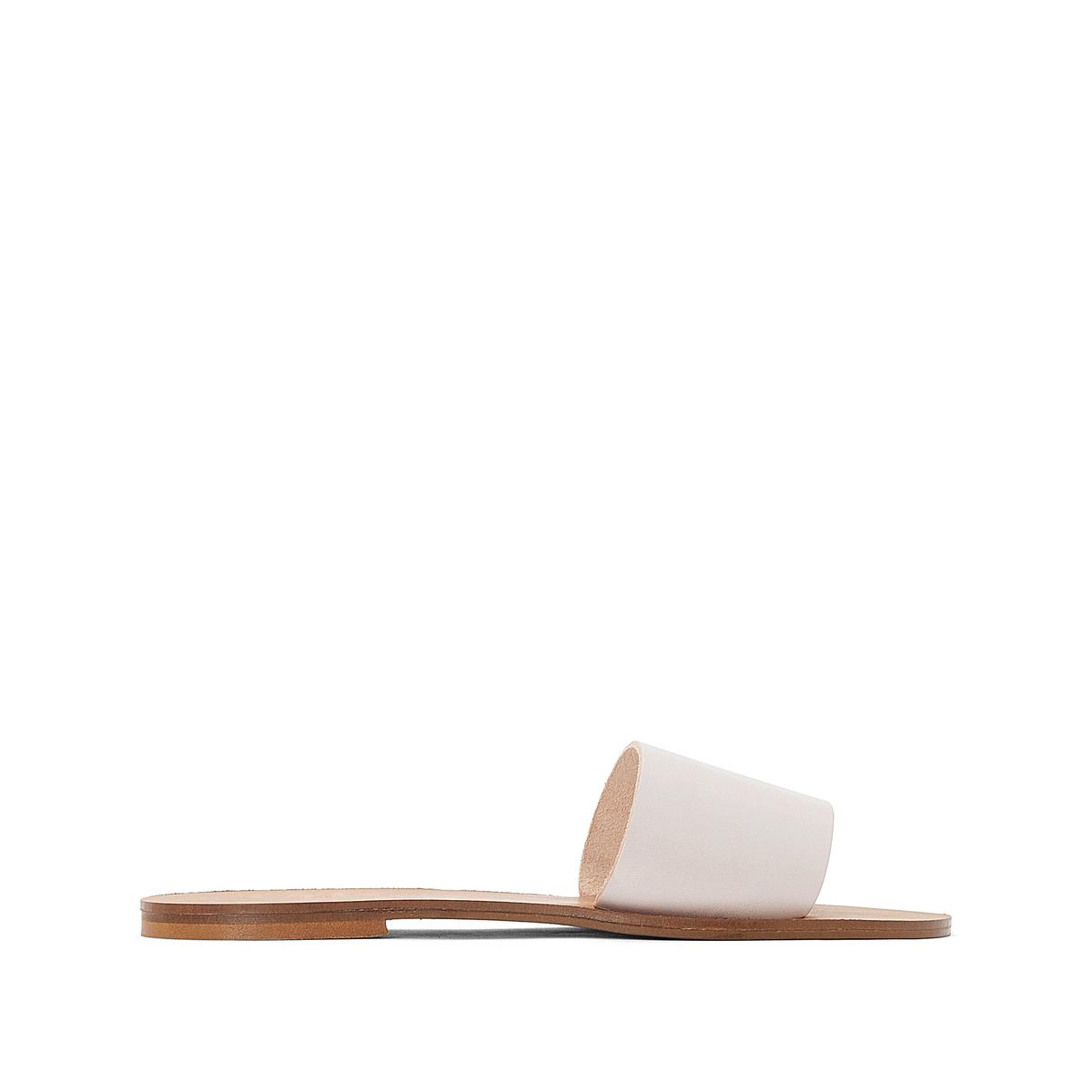 Туфли без задника кожаные SoniaОписание:Детали •  Туфли без задника •  Высота каблука : 5 см •  Застежка : без застежки •  Открытый мысок •  Гладкая отделкаСостав и уход •  Верх/Голенище : 100% яловичная кожа •  Подкладка : 100% кожа •  Стелька : 100% синтетический материал •  Подошва : 100% синтетический материал<br><br>Цвет: телесный