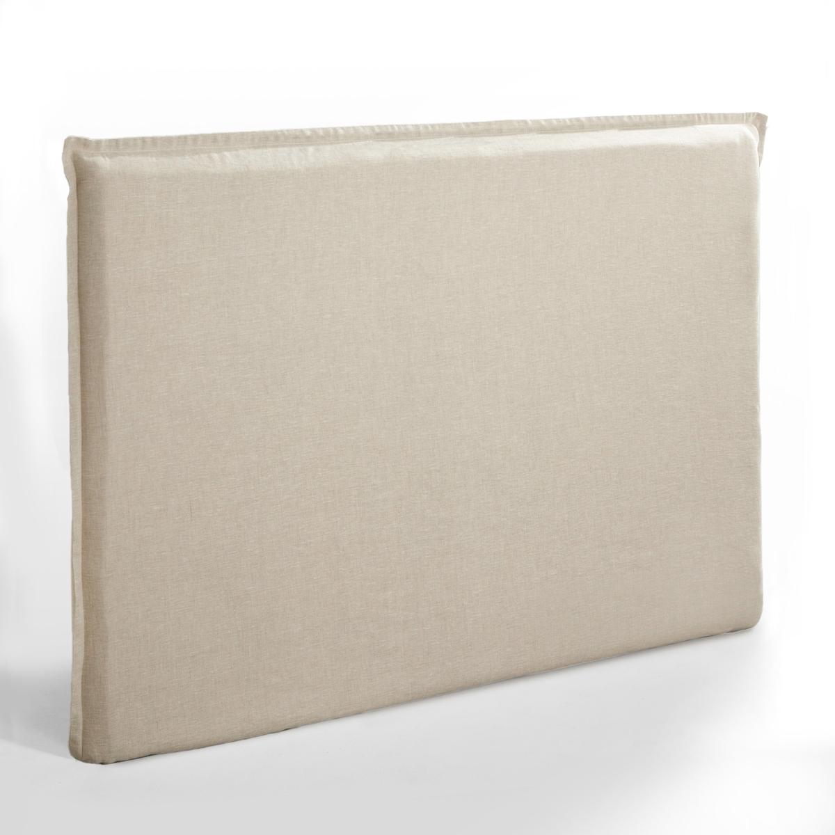 Чехол для изголовья кровати высотой 135 см из стиранного льна, SandorСостав :- 100% стиранный лен.Отделка :- Форма наволочки, плоский волан 2,5 см. Уход :- Машинная стирка при 40 °С.Размеры :- Высота 135 см.  Размеры: Ширина 105 см : для 1-сп. кровати, ширина 90 см Ширина 155 см : для 2-сп. кровати, ширина 140 см Ширина 175 см : для 2-сп. кровати, ширина 160 см Ширина 195 см : для 2-сп. кровати, ширина 180 смЗнак Oeko-Tex® гарантирует, что товары прошли проверку и были изготовлены без применения вредных для здоровья человека веществ.<br><br>Цвет: антрацит,светло-синий,серо-бежевый,серый