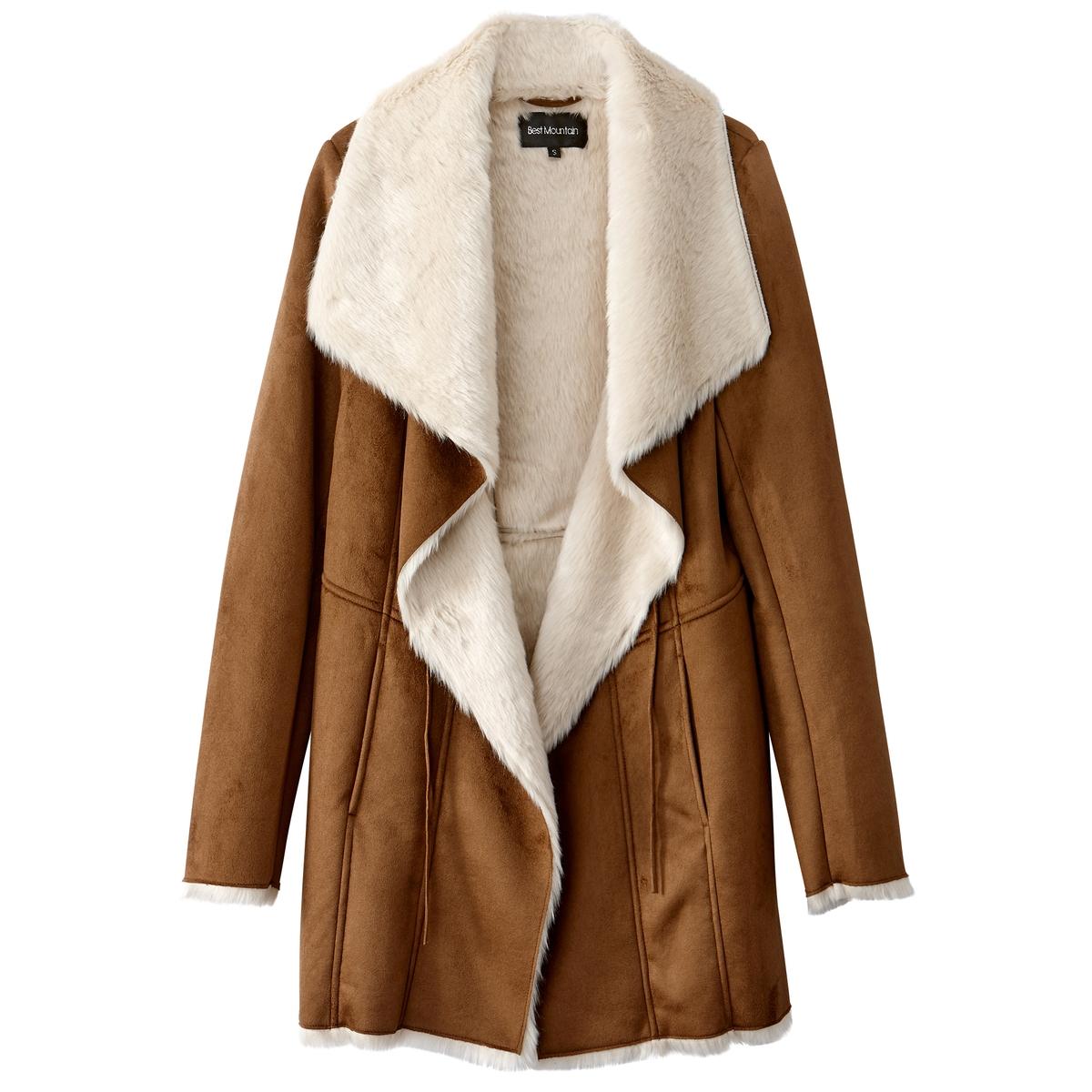 Пальто средней длины, демисезонноеДетали •  Длина  : средняя  •  Шалевый воротник • Застежка на пуговицы Состав и уход •  100% полиэстер  •  Следуйте советам по уходу, указанным на этикетке<br><br>Цвет: темно-бежевый