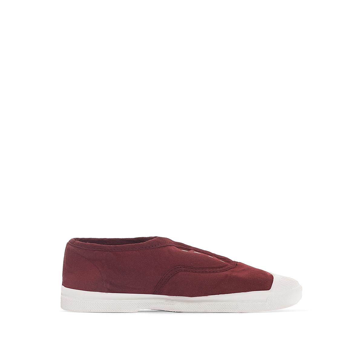 Кеды базового гардероба на шнуровкеДетали  •  Спортивный стиль •  Плоский каблук •  Застежка : шнуровка.Состав и уход  •  Верх 100% текстиль •  Подкладка 100% текстиль •  Подошва 100% каучук<br><br>Цвет: бордовый
