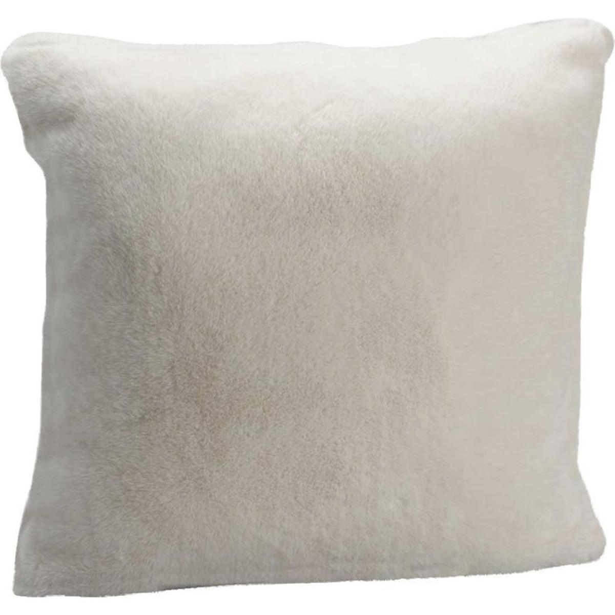 Coussin blanc style fourrure