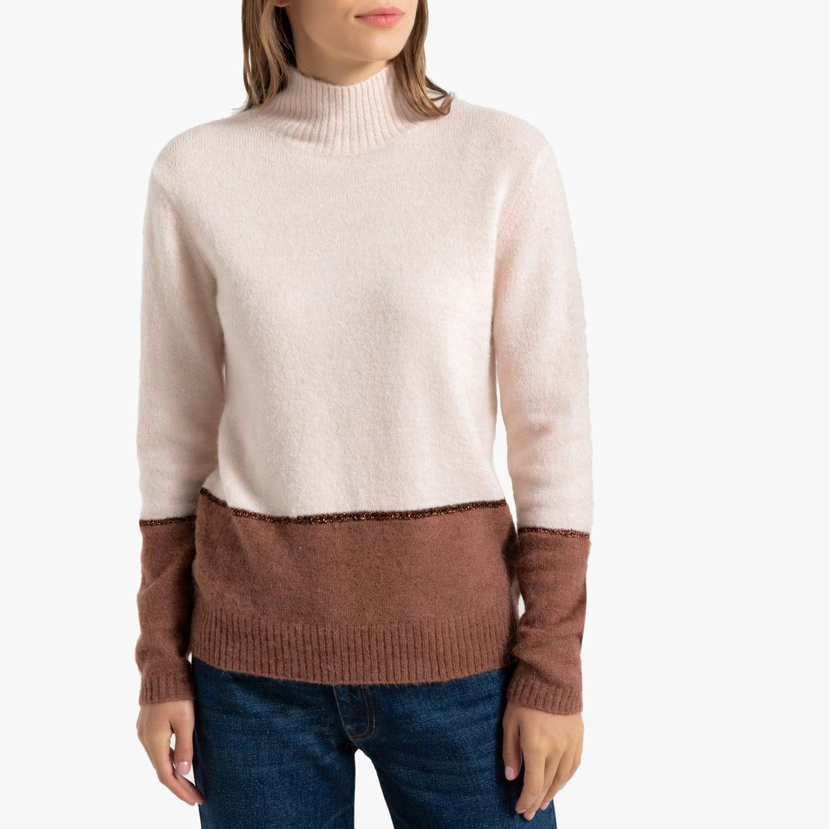 Пуловер La Redoute Двухцветный с воротником-стойкой S другие