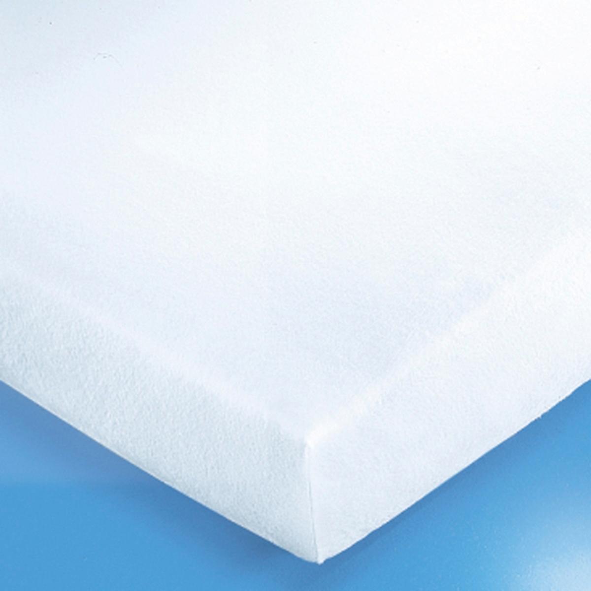 Чехол защитный для матраса флисовый, 400 г/м?La Redoute<br>Надежная защита для Ваших постельных принадлежностей и уникальный комфорт для Вас: этот чехол поглощает потоотделения, выделение которых неизбежно во время сна, и защищает подушки и одеяла от появления разводов, скапливания бактерий и клещей.Характеристики защитного матраса :Износостойкий флисовый чехол из очень мягкого чистого хлопка (начёс с лица и с изнанки).Стирка при 95°С для идеальной гигиены, обработка от усадки ткани SANFOR. Биоцидная обработка .4 эластичных угла (высота. 27 см).Размеры :80 x 200 см, 90 x 200 см, 140 x 200 см, 150 x 200 см, 160 x 200 см, 180 x 200 см<br><br>Цвет: белый<br>Размер: 120 x 190 см