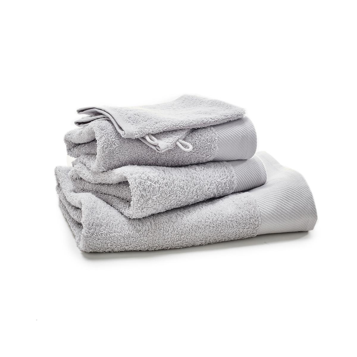 Комплект из однотонных банных La Redoute Принадлежностей из махровой ткани гм SCENARIO единый размер серый цены онлайн