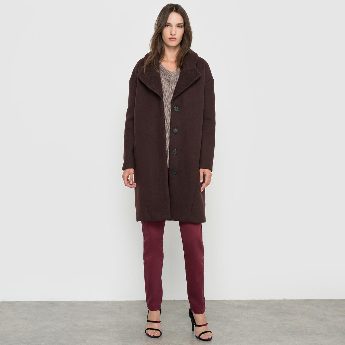 Пальто покроя оверсайз блуза vila vila vi004ewupu90