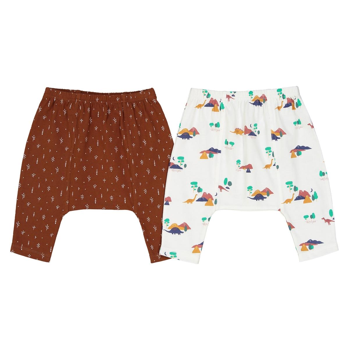 Confezione da 2 pantaloni alla turca dinosauro 0 mesi- 2 anni