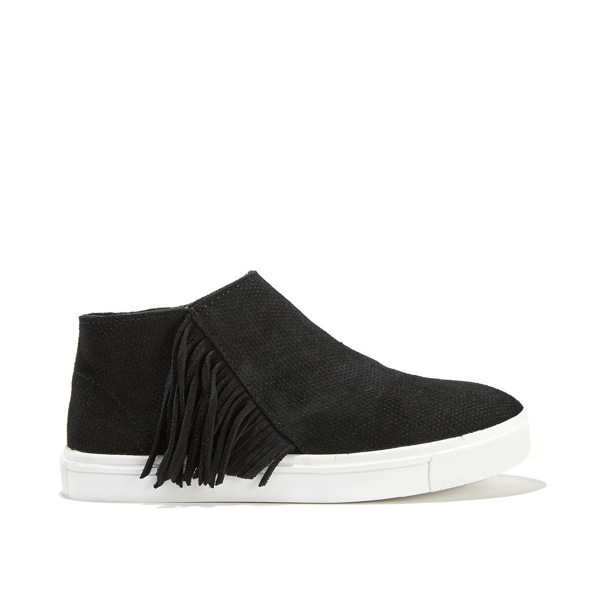 Кроссовки кожаные на молнии с бахромой GWEN BOOTIE ботинки кожаные с бахромой