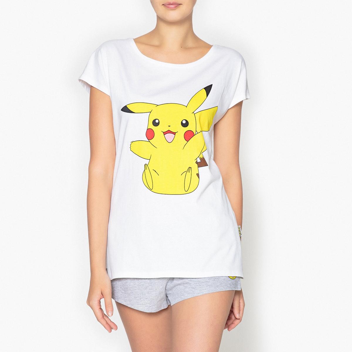 Пижама с принтом, PokemonПижама с веселым Покемоном, который поднимет настроение с утра и повеселит во время вечернего отдыха !Состав и описаниеРаздельная пижама, верх с принтом, круглый вырез, длинные рукава .Шорты с завязками . Рисунок маленький Покемон сбоку . Эластичный пояс.Марка : PokemonМатериал :  93 % хлопка, 7% полиэстера Уход: :Машинная стирка при 30 °С на деликатном режиме с вещами схожих цветов.Стирать и гладить при низкой температуре с изнаночной стороны.Машинная сушка запрещена.<br><br>Цвет: серый