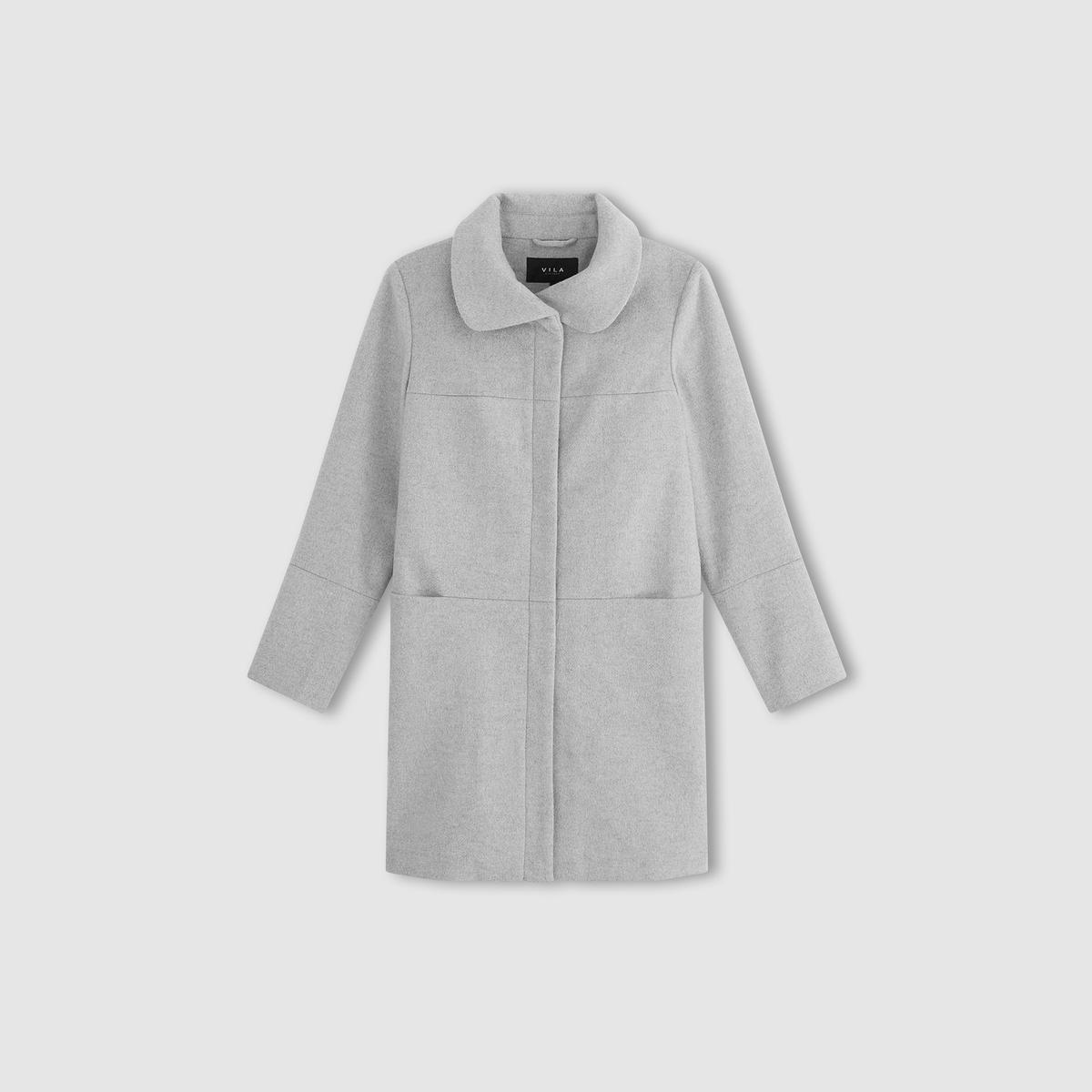 Пальто в форме трапеции с шалевым воротником, VIMARRY COAT