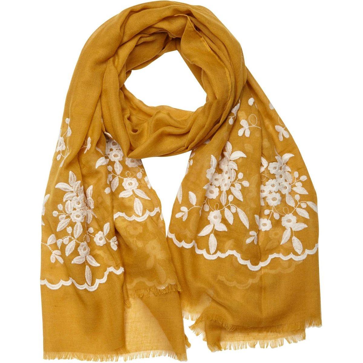 Foulard fantaisie motif fleurs