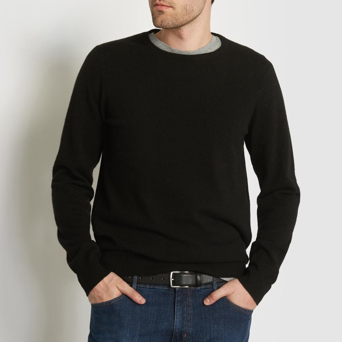 Пуловер с круглым вырезом, 100% кашемираПуловер с длинными рукавами. Прямой покрой, круглый вырез. Края выреза, низа и рукавов связаны трикотажной резинкой.                                                                   Состав и описание:                                                      Материал:  100% кашемировой шерсти                                                      Марка: R essentiel.<br><br>Цвет: сине-зеленый,темно-серый меланж,черный<br>Размер: S