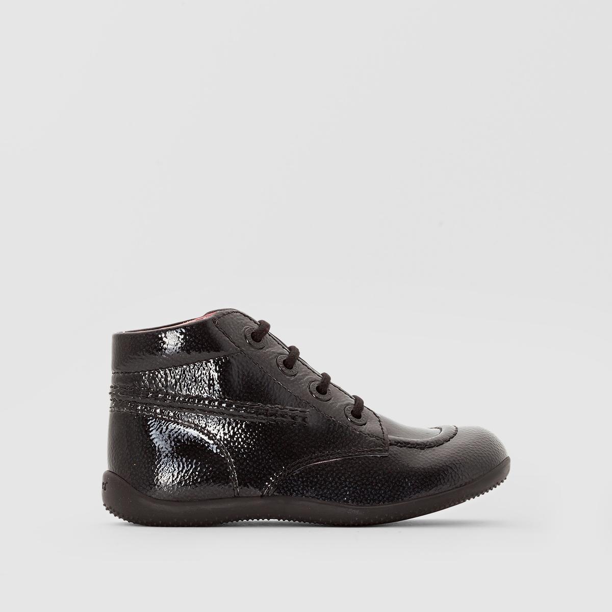 Ботинки BILLISTAПодкладка : Неотделанная кожа   Стелька : Неотделанная кожа   Подошва : Каучук   Высота каблука : 5 смЗастежка : Шнуровка<br><br>Цвет: бордовый,Черный лак