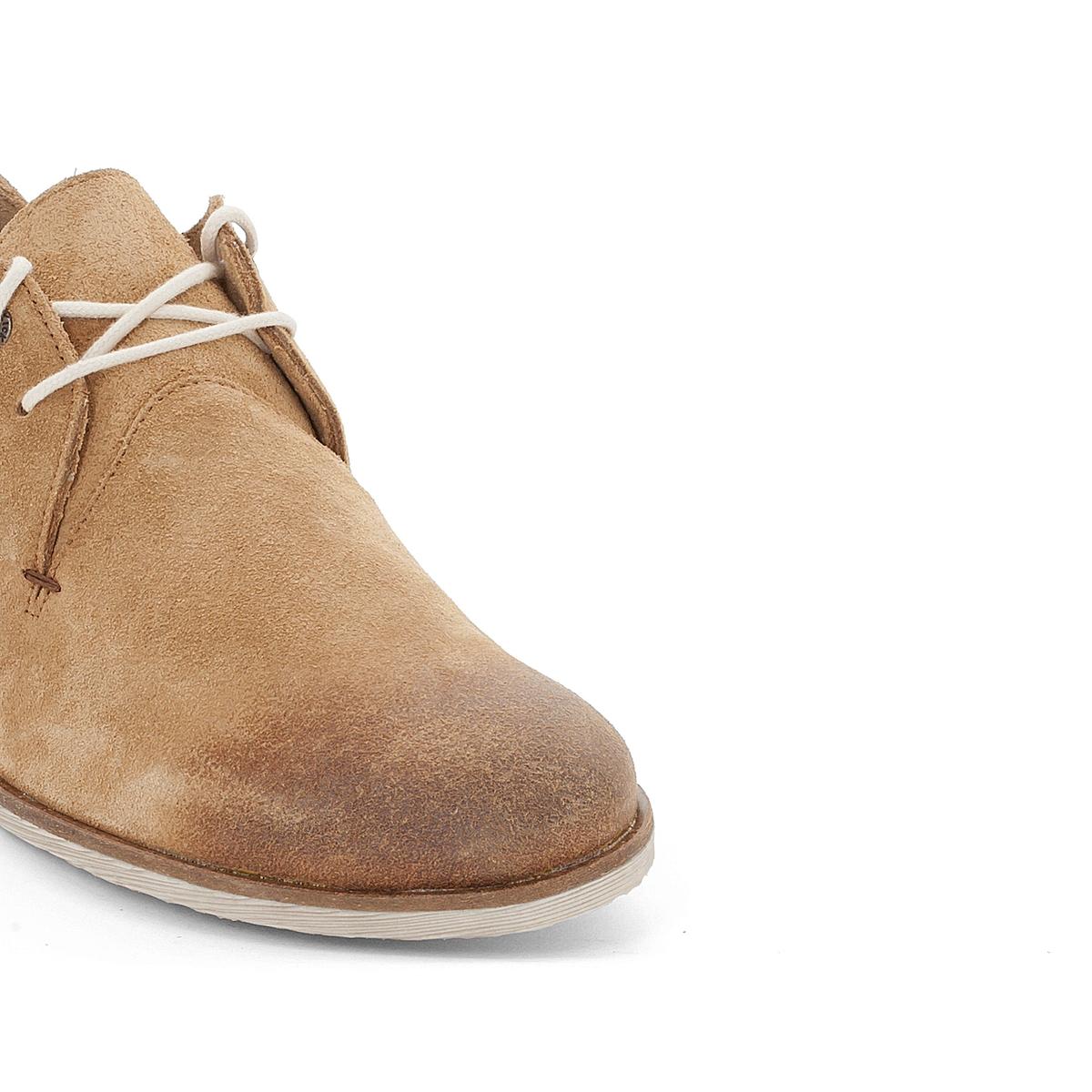 Ботинки-оксфорды кожаные FlallinaВерх : велюр    Подкладка : без подкладки   Стелька : синтетика   Подошва : синтетика   Застежка : шнуровка<br><br>Цвет: бежевый