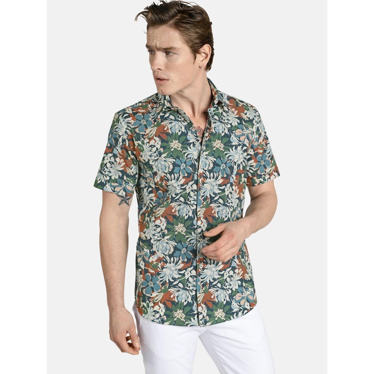 Chemise à manches courtes floralpower