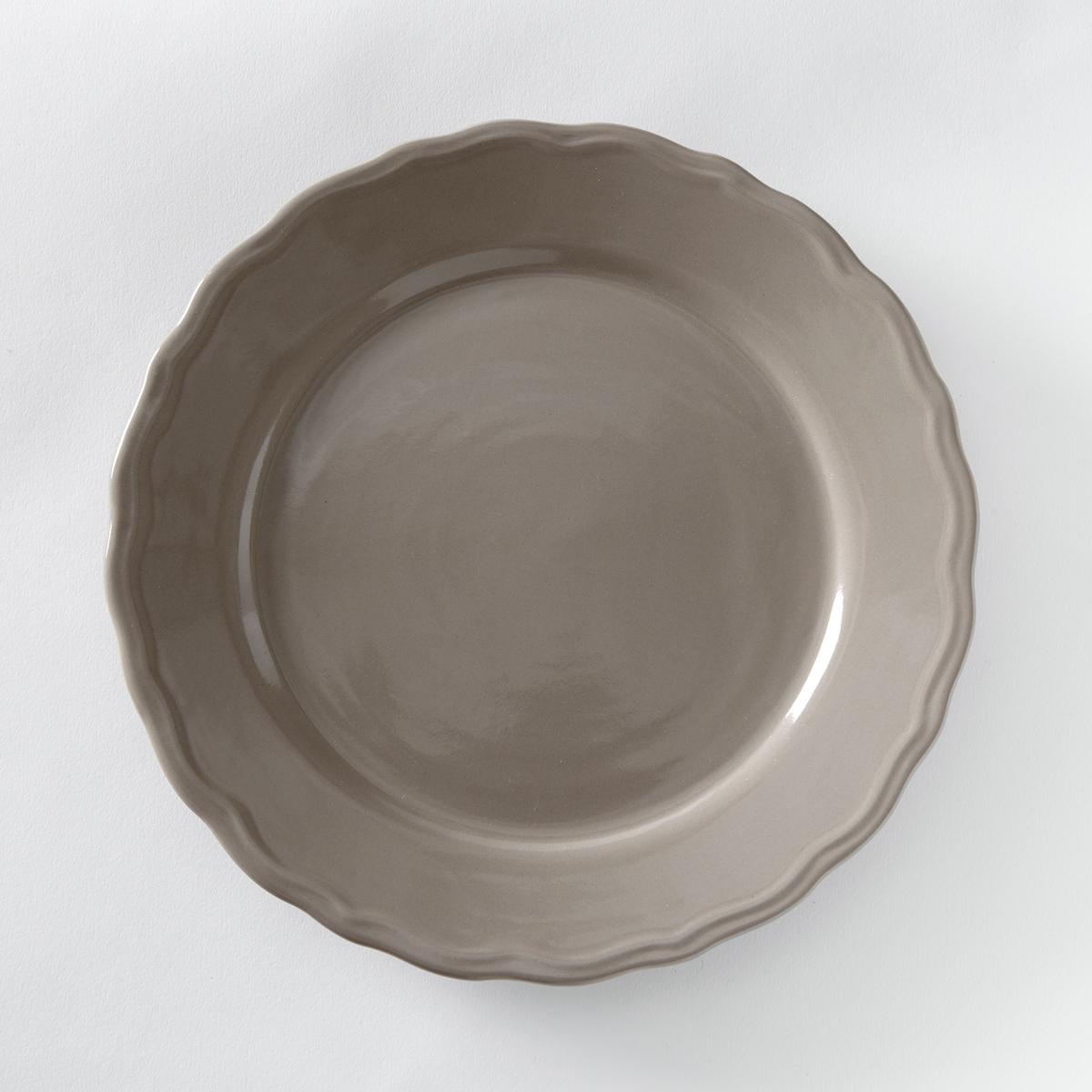 4 тарелки плоские с отделкой фестоном, AjilaХарактеристики 4 тарелок плоских с отделкой фестоном Ajila :- Из фаянса, зубчатая кромка.- Диаметр 26,5 см  .- Можно использовать в посудомоечных машинах и микроволновых печах.Десертные и глубокие тарелки,чашки, кружки и блюдца Ajila продаются на нашем сайте.<br><br>Цвет: серо-коричневый