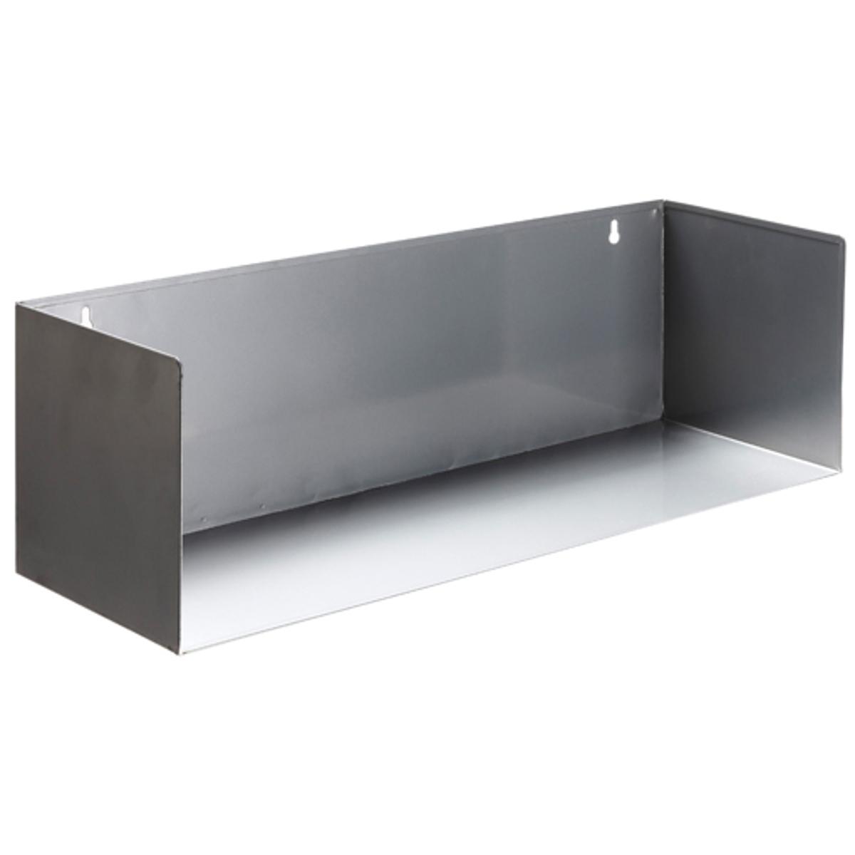 Полка настенная прямоугольная  (комплект из  2) ToranaГальванизированный металл- необработанный или с эпоксидным покрытием .Размеры. : 58 x 18 x 18 см . Выдерживает вес до  7 кг .<br><br>Цвет: серый