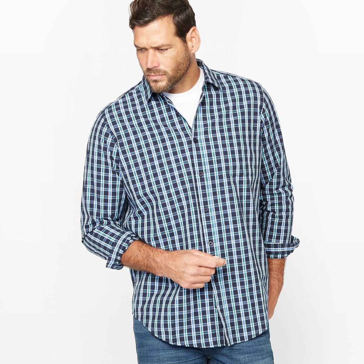 Рубашка в клеткуМатериал : поплин из 100% хлопка.Длина переда от 83 до 90 см в зависимости от размера .Марка : CASTALUNA FOR MEN.Уход : Машинная стирка при 30 °C.<br><br>Цвет: в клетку темно-синий<br>Размер: 49/50.41/42
