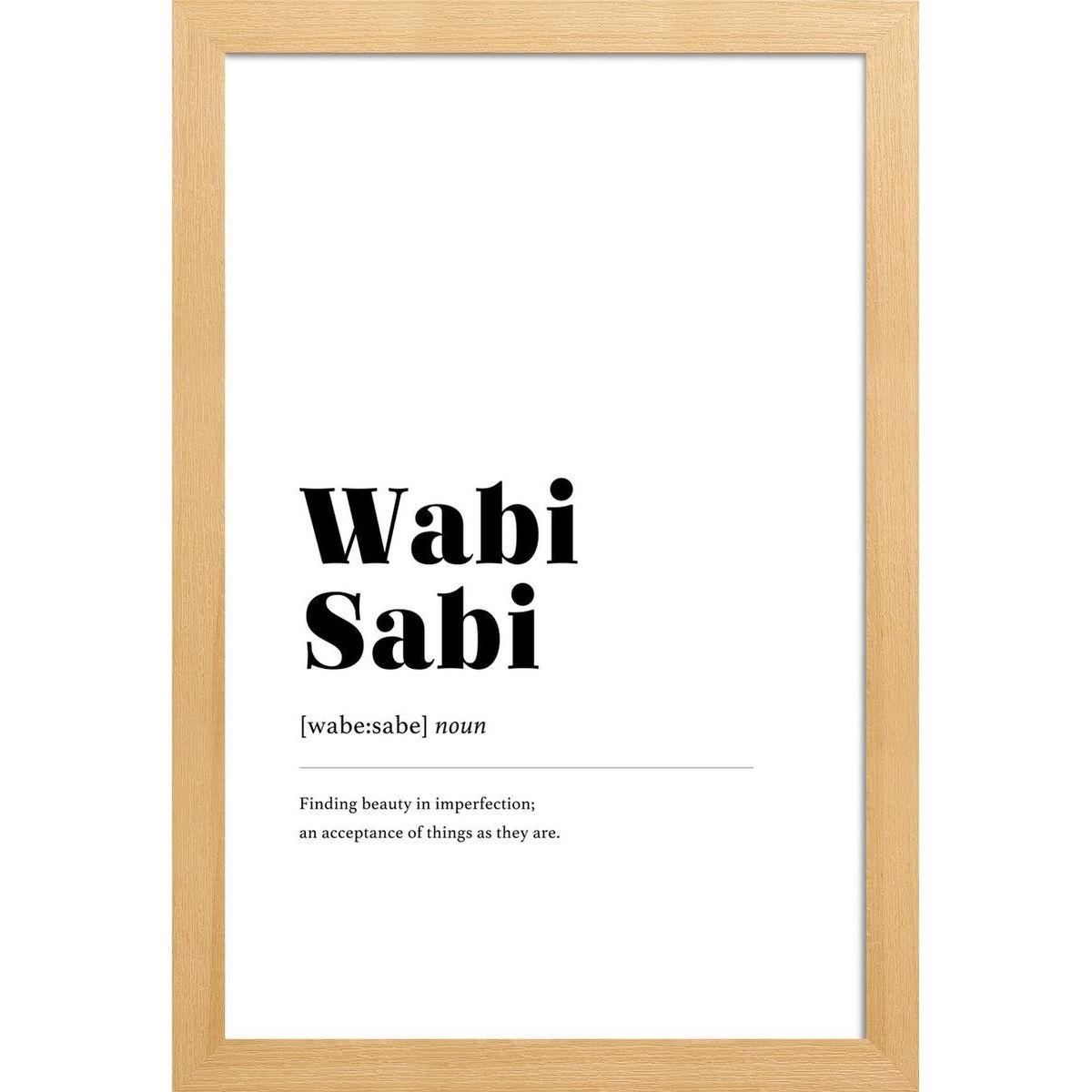 Une affiche wabi-sabi