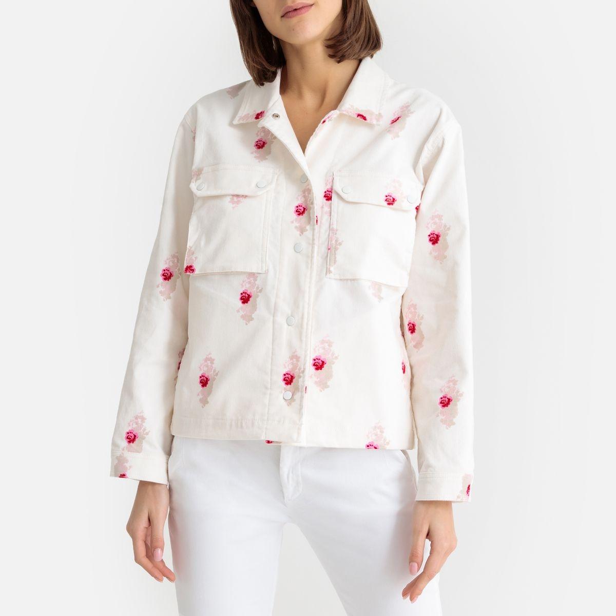 Veste chemise velours imprimé fleurs LYNDA