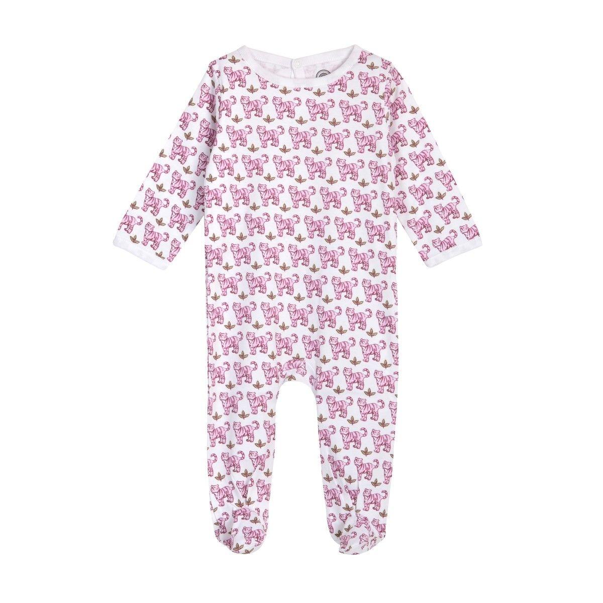 Pyjama bébé fille en coton bio - Imprimé Tigre