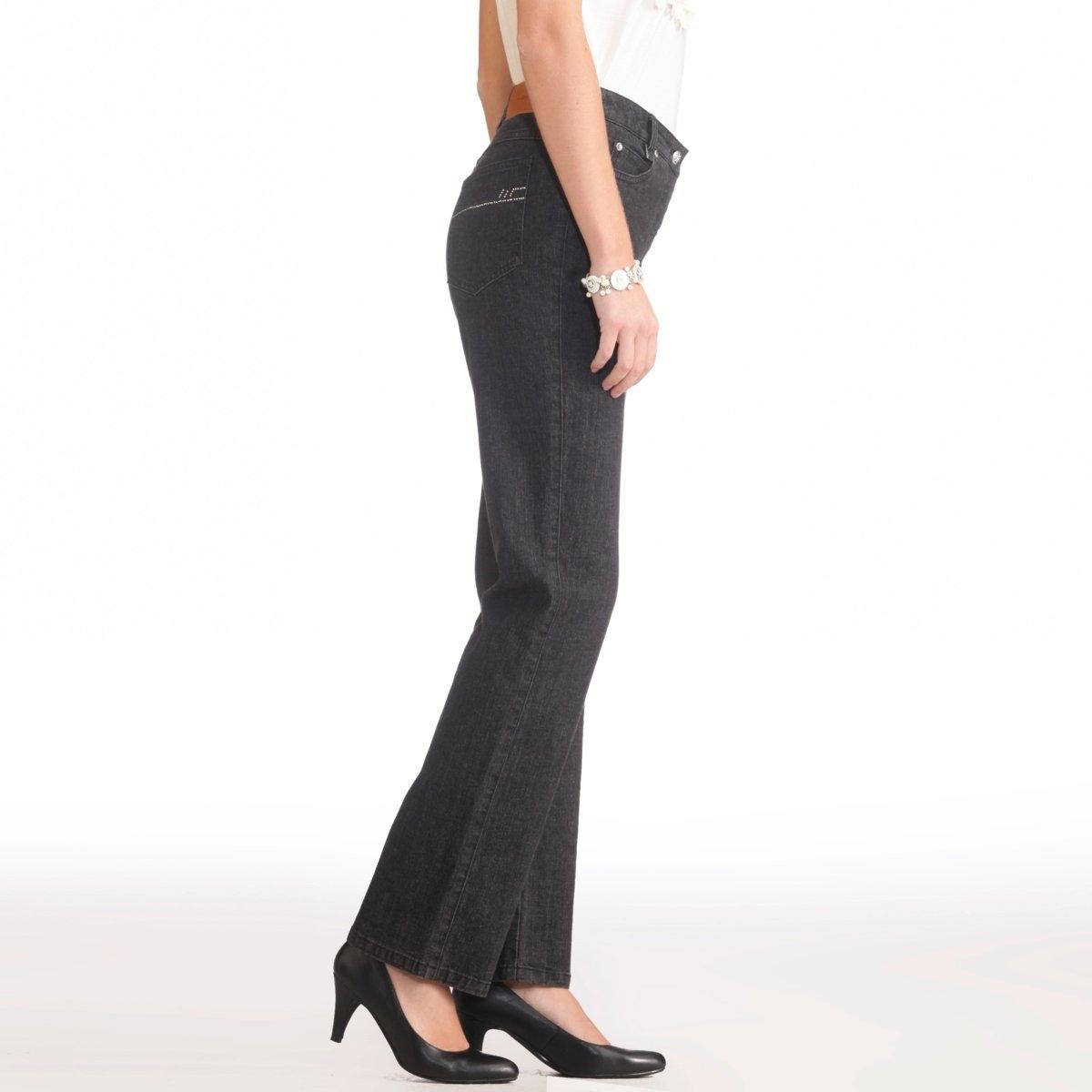 Джинсы из стретч денима, длина по внутр. шву 73 смКлассические джинсы: настоящие пятикарманные, украшены стразами. Талия слегка занижена. Пуговица из металла, украшена стразами, застежка на молнию спереди. Сзади: карманы со строчкой из страз, на одном инициалы AW на поясе нашивка имитация кожи. Длина по внутр. шву 73 см, при росте менее 1,65 м.Состав и описание:Материал: Деним стретч: 99% хлопка, 1% эластана LYCRA®.Длина по внутр. шву: 73 см, ширина по низу: 20 см.Марка: Anne Weyburn.Уход:Машинная стирка при 30°C на умеренном режиме, с изнанки.Гладить при средней температуре, с изнанки.<br><br>Цвет: синий потертый,темно-синий,черный<br>Размер: 38 (FR) - 44 (RUS).38 (FR) - 44 (RUS).42 (FR) - 48 (RUS).44 (FR) - 50 (RUS).40 (FR) - 46 (RUS).44 (FR) - 50 (RUS).52 (FR) - 58 (RUS).52 (FR) - 58 (RUS)