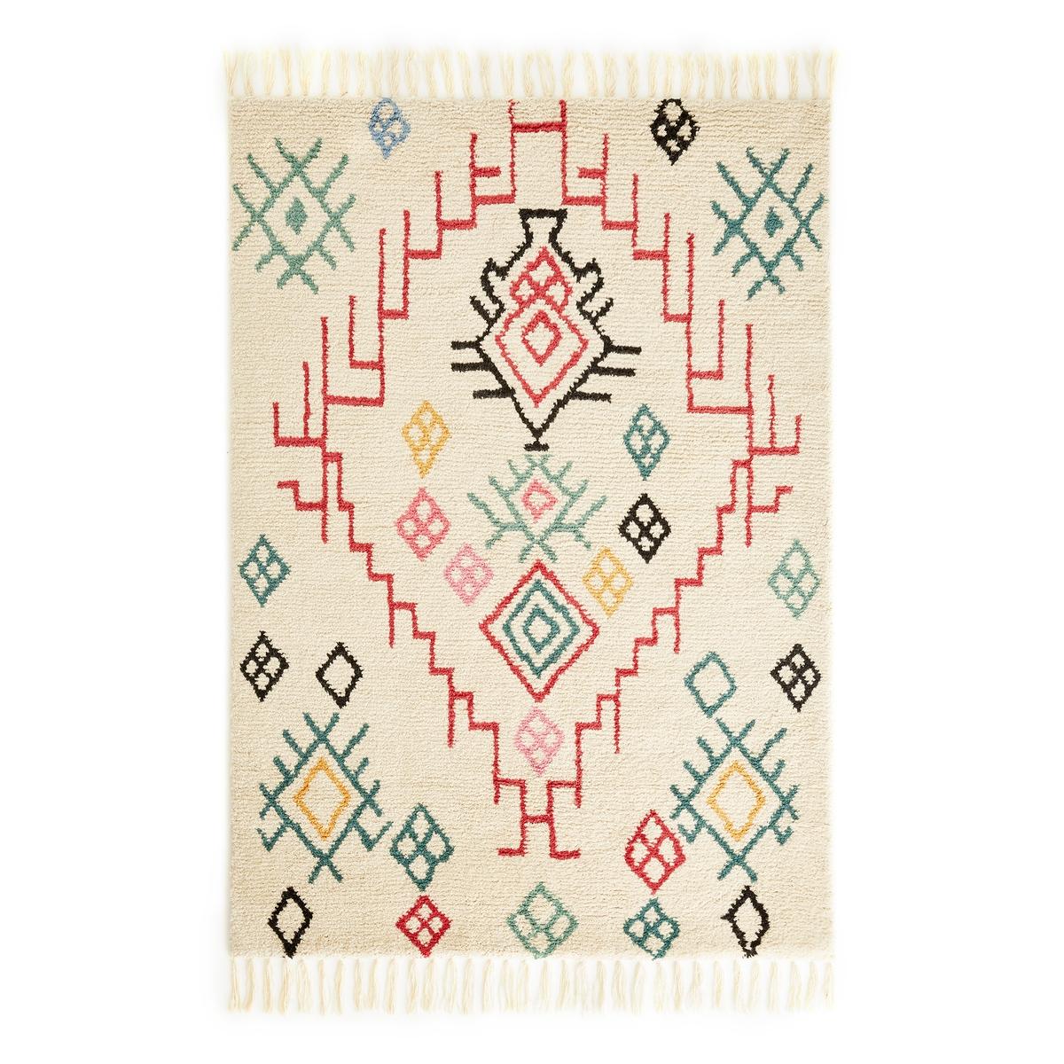 Ковер La Redoute В берберском стиле ADZA шерсть 160 x 230 см разноцветный ковер la redoute шерсть в берберском стиле anton 120 x 170 см бежевый
