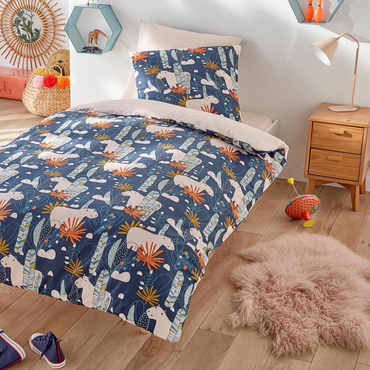 цена Пододеяльник La Redoute Детский POTAME 140 x 200 см синий онлайн в 2017 году
