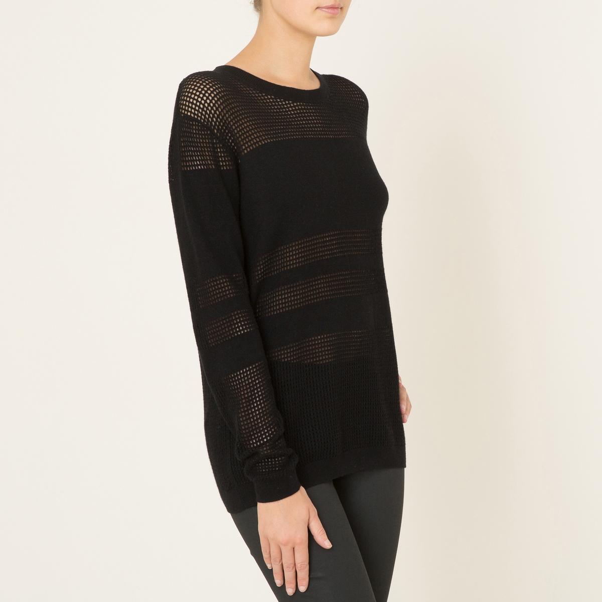 Пуловер из ажурного трикотажа
