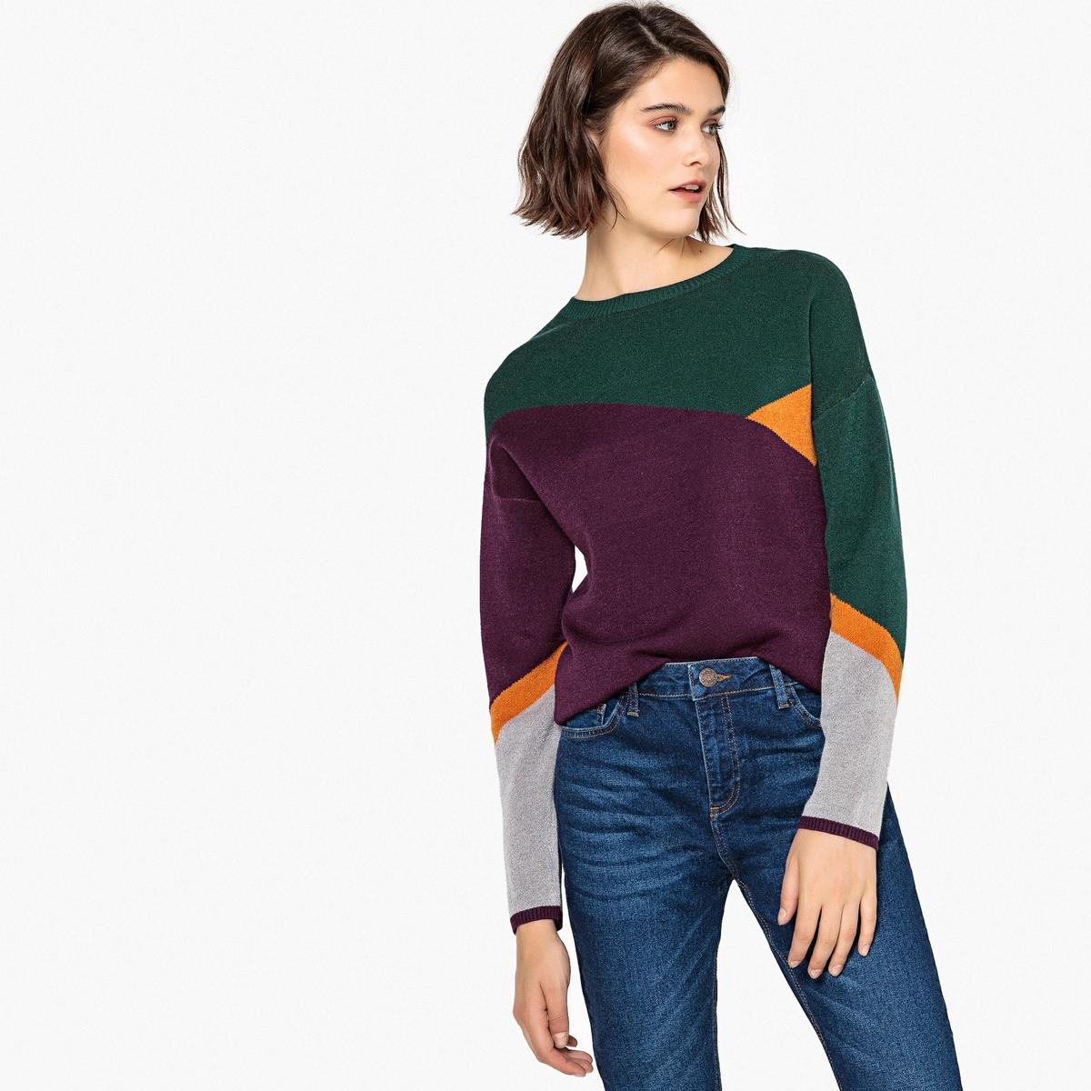 Jersey de cuello redondo con jacquard