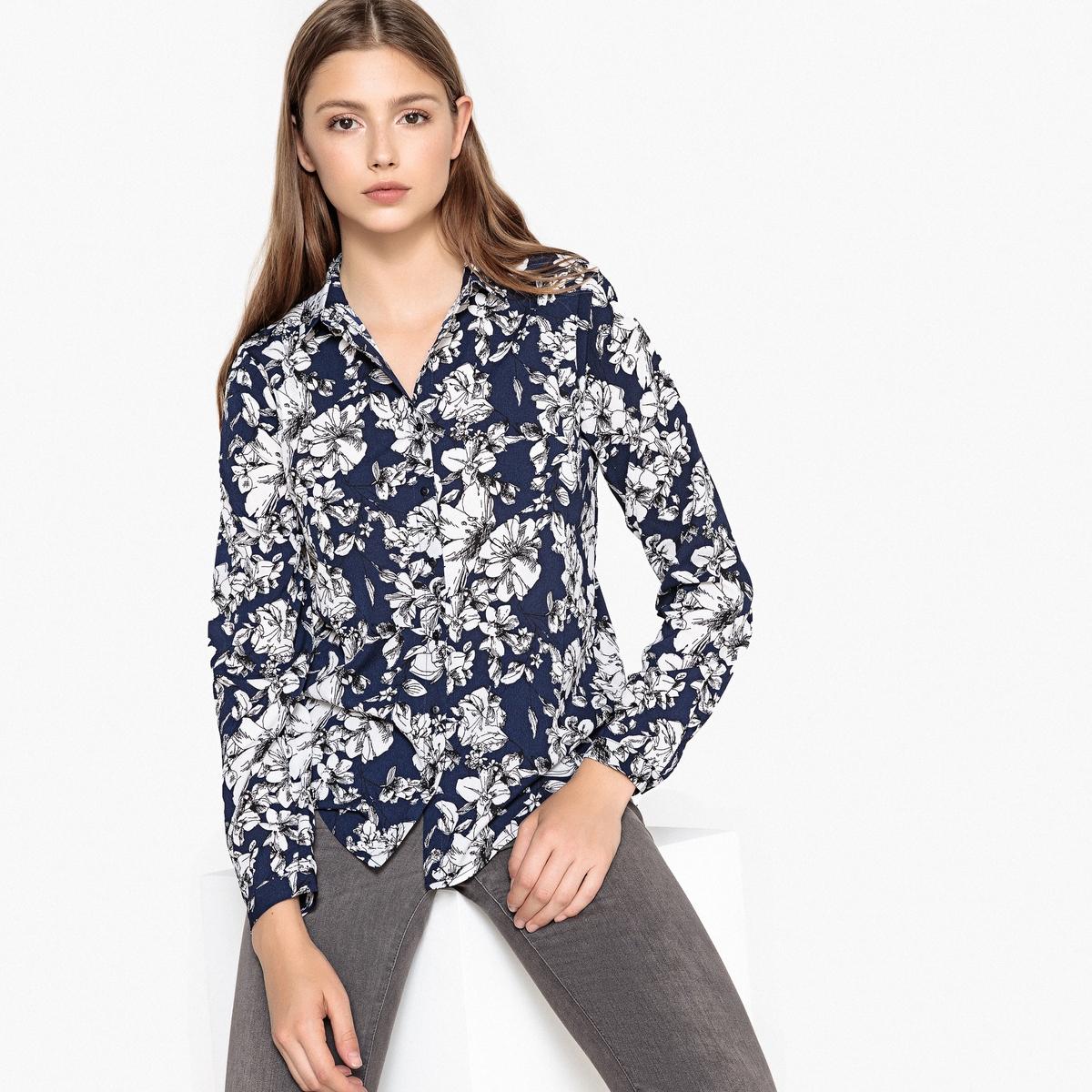 Блузка с цветочным рисунком и длинными рукавами блузка best mountaine