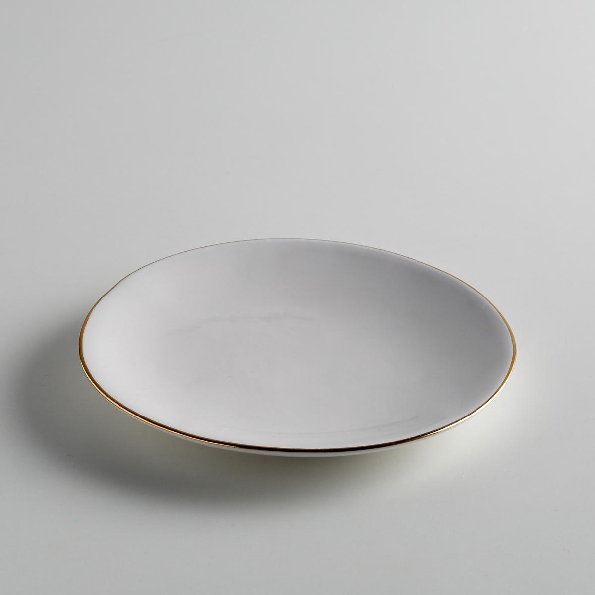Комплект из десертных тарелок La Redoute Из фаянса Catalpa единый размер белый комплект из 4 десертных тарелок sam baron
