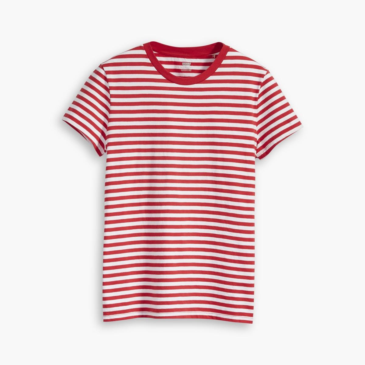 Camiseta a rayas, Perfect Tee, con cuello redondo
